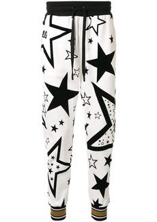 Dolce & Gabbana Flocked start print track pants