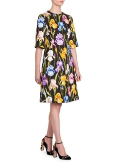 Dolce & Gabbana Floral Brocade A-Line Dress