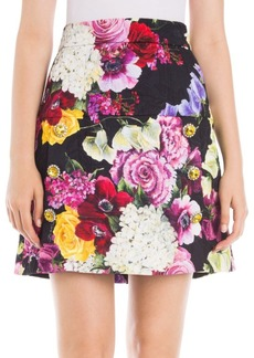 Dolce & Gabbana Floral Brocade Mini Skirt