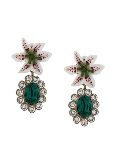 Dolce & Gabbana floral crystal stud earrings