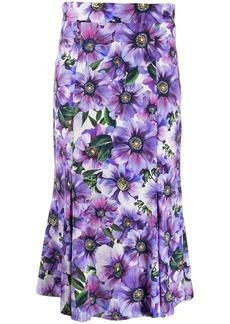 Dolce & Gabbana floral detail high-waisted skirt