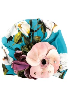 Dolce & Gabbana floral detail turban