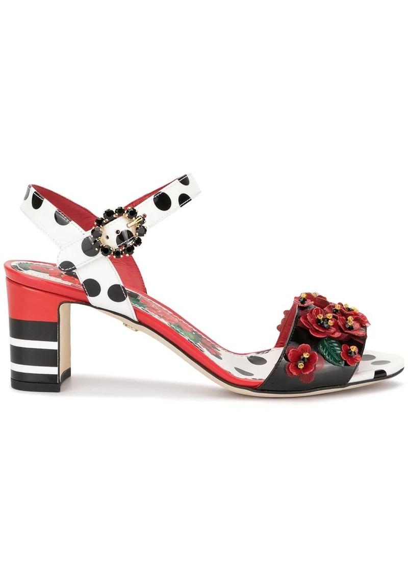 Dolce & Gabbana floral embellished sandals