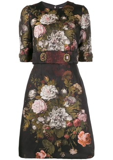 Dolce & Gabbana floral embellished short dress