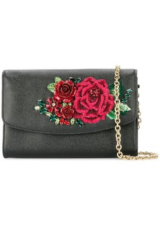 Dolce & Gabbana floral embroidered clutch