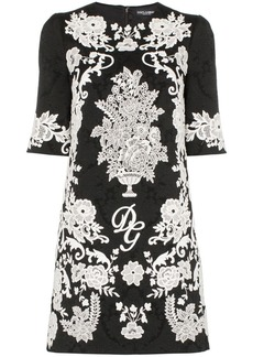 Dolce & Gabbana floral embroidered jacquard dress