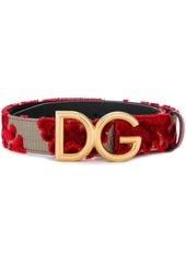 Dolce  gabbana floral embroidered logo belt abv1a29f5f4 a