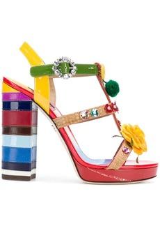 Dolce & Gabbana floral embroidered sandals