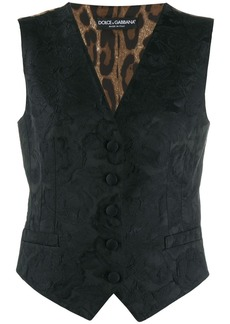 Dolce & Gabbana floral embroidered waistcoat
