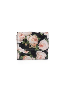 Dolce & Gabbana Floral French Fold Wallet