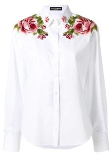 Dolce & Gabbana floral inserts shirt