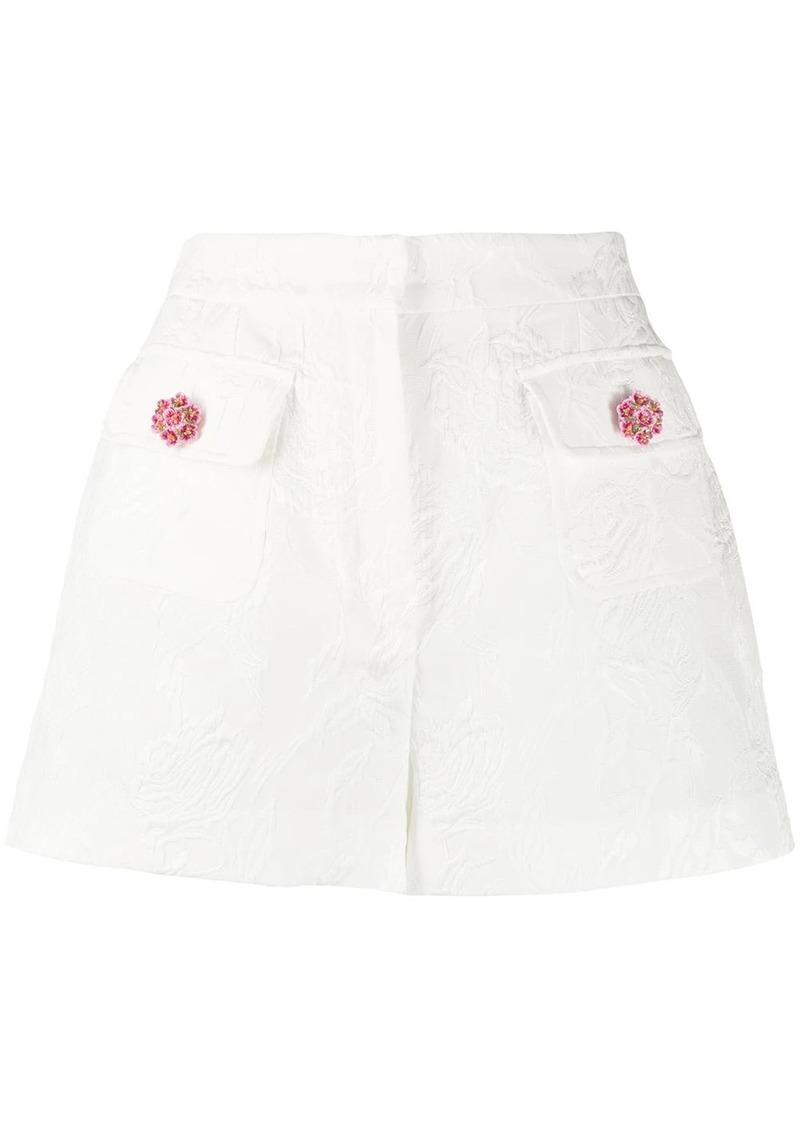 Dolce & Gabbana floral jacquard shorts