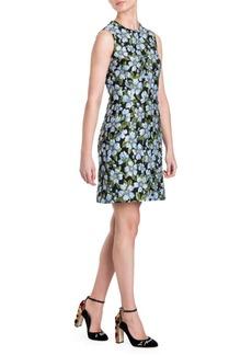 Dolce & Gabbana Floral Jacquard Sleeveless Dress