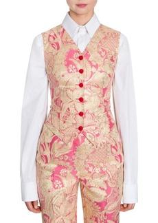 Dolce & Gabbana Floral Jacquard Vest