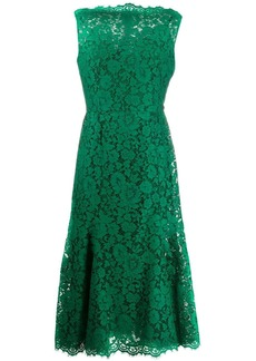 Dolce & Gabbana floral lace sleeveless dress