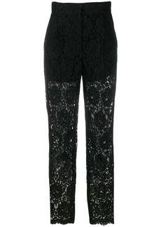 Dolce & Gabbana floral lace suit trousers