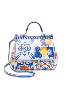Dolce & Gabbana Floral Leather Satchel
