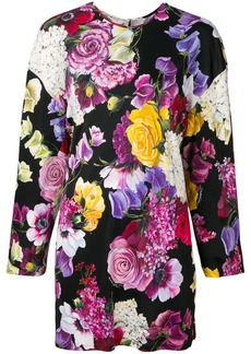 Dolce & Gabbana floral long-sleeve blouse