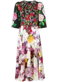 Dolce & Gabbana floral multi-print midi dress
