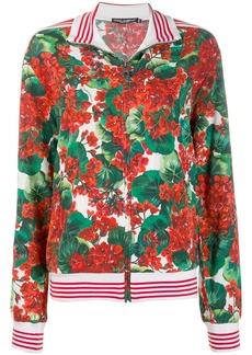 Dolce & Gabbana floral print bomber jacket