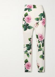 Dolce & Gabbana Floral-print Cady Skinny Pants