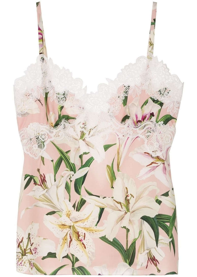 Dolce & Gabbana floral print camisole