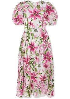 Dolce & Gabbana Floral-print Organza Midi Dress