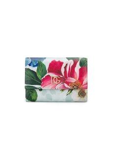 Dolce & Gabbana floral print compact wallet