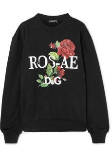 Dolce & Gabbana Floral-print Cotton-jersey Sweatshirt