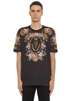 Dolce & Gabbana Floral Print Cotton Jersey T-shirt