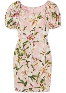 Dolce & Gabbana Floral-print Crepe Mini Dress