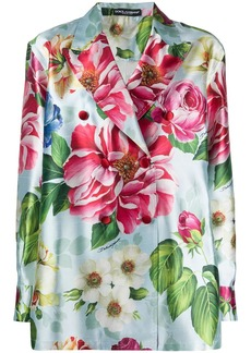 Dolce & Gabbana floral print double-breasted blazer