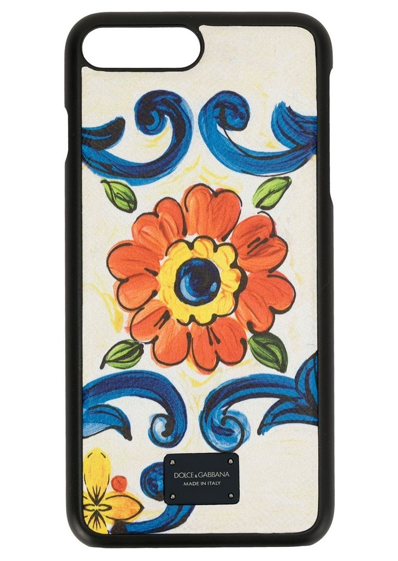 Dolce & Gabbana floral print iPhone case