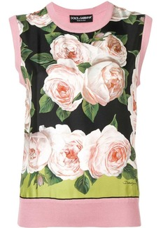 Dolce & Gabbana floral print knitted top