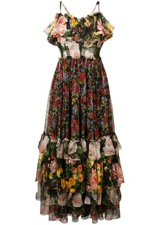 Dolce & Gabbana floral print layered dress