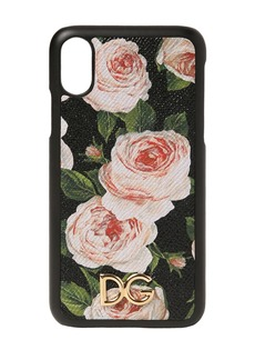 Dolce & Gabbana Floral Print Leather Iphone X Case