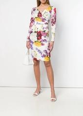 Dolce & Gabbana floral print long-sleeve dress