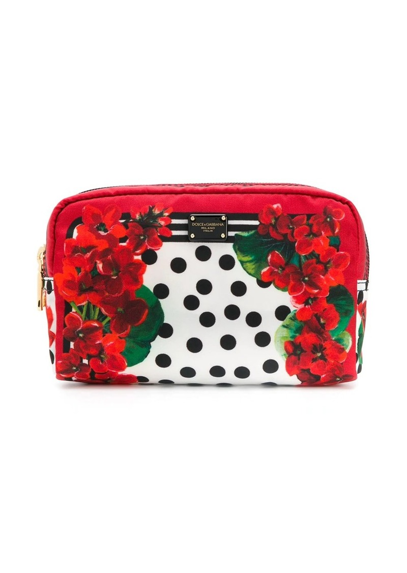Dolce & Gabbana floral print make-up bag