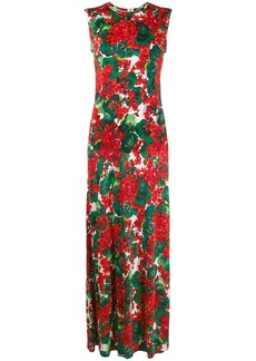 Dolce & Gabbana floral print maxi dress
