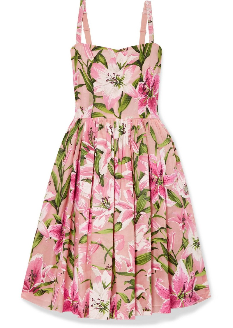Dolce & Gabbana Floral-print Organza Dress