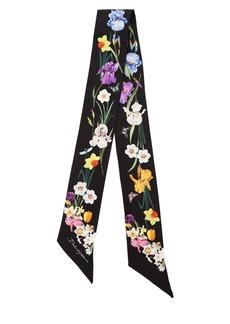 Dolce & Gabbana Floral Print Silk Bandeau Scarf