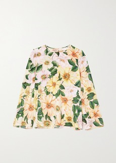 Dolce & Gabbana Floral-print Silk-blend Top