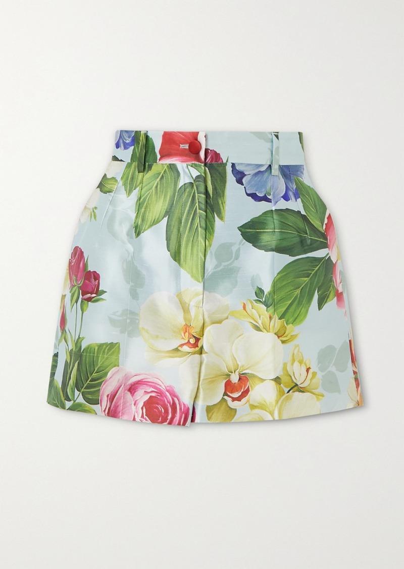 Dolce & Gabbana Floral-print Silk Shorts