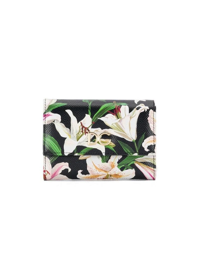 Dolce & Gabbana floral print trifold wallet