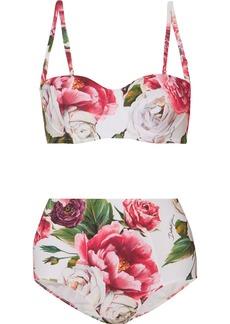 Dolce & Gabbana Floral-print Underwired Bikini