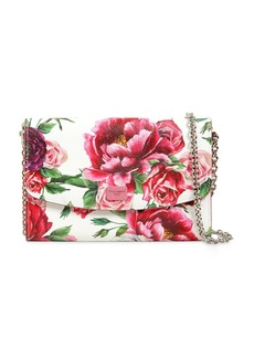 Dolce & Gabbana Floral Printed Dauphine Leather Clutch