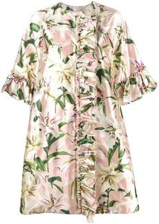 Dolce & Gabbana floral ruffle coat