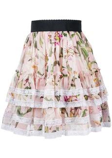 Dolce & Gabbana floral tiered skirt