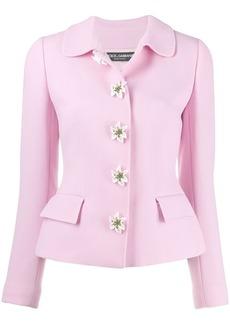Dolce & Gabbana flower embellished jacket
