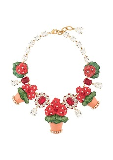 Dolce & Gabbana flower pot necklace
